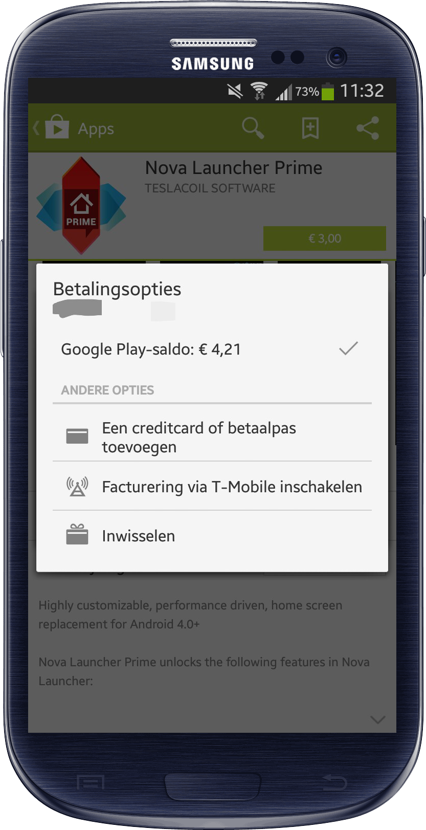 T-Mobile Play Store S3