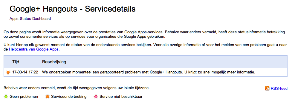 Storing google hangouts