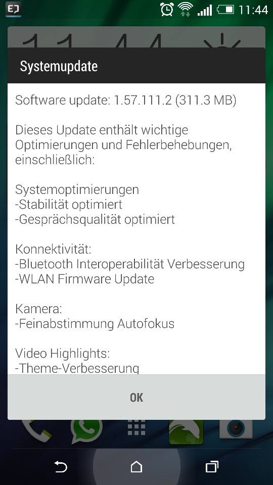 Update HTC One M8