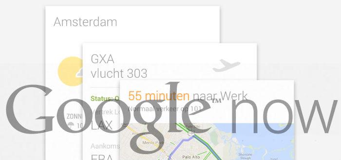Google gaat API openstellen voor aangepaste Google Now kaarten