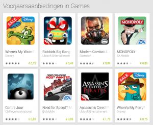 Google Play voorjaarsaanbiedingen