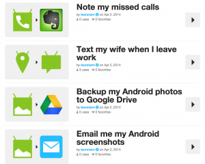 ifttt example android