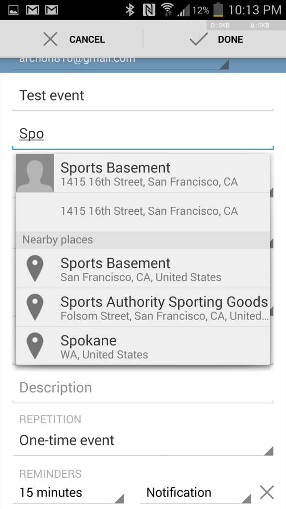 http://www.androidpolice.com/2014/04/16/google-calendar-for-android-finally-suggests-locations-of-nearby-places-and-lets-you-join-video-calls-in-hangouts-apk-download/