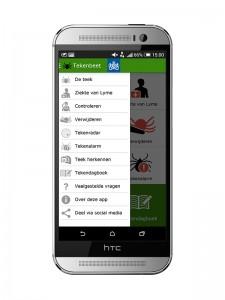 menu android tekenbeet app