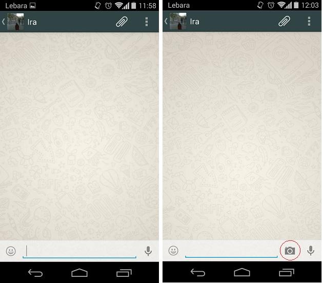 WhatsApp beta camera