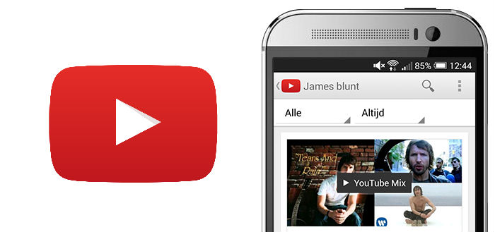 YouTube test 1080p-ondersteuning in applicatie