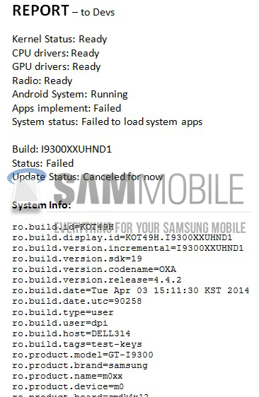 Galaxy S3 SIII update Samsung Android