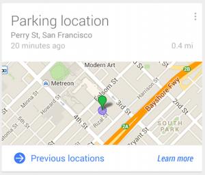 google now parking parkeren