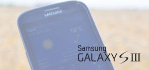 Samsung Galaxy S3 header