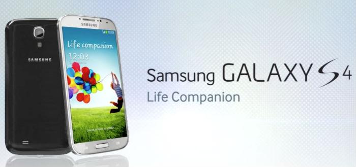 Samsung brengt software-update uit voor Samsung Galaxy S4