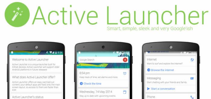 Active Launcher brengt launcher uit in Google Now-stijl