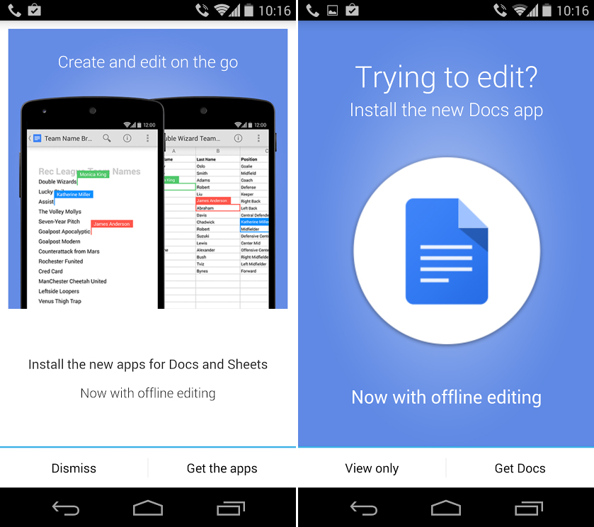 google drive update android