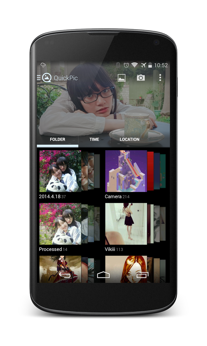 QuickPic New UI redesign Android