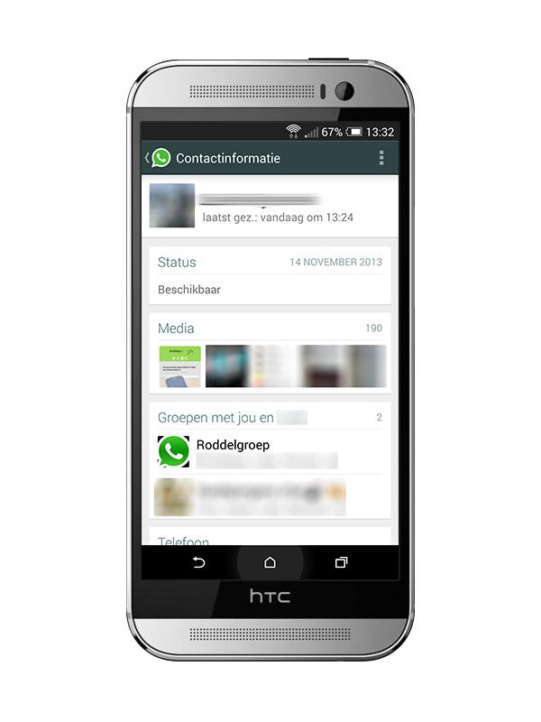 WhatsApp update contact