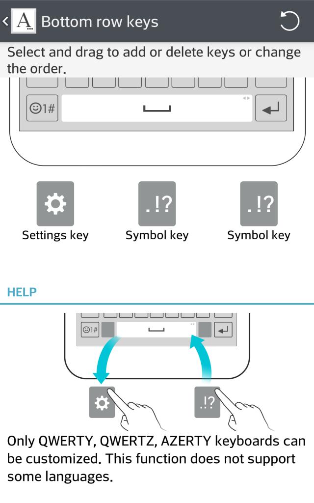 LG G3 keyboard