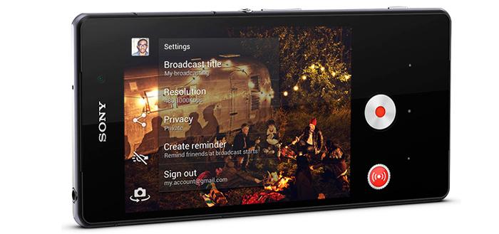 Live on YouTube maakt live-uitzenden mogelijk met Sony Xperia Z2