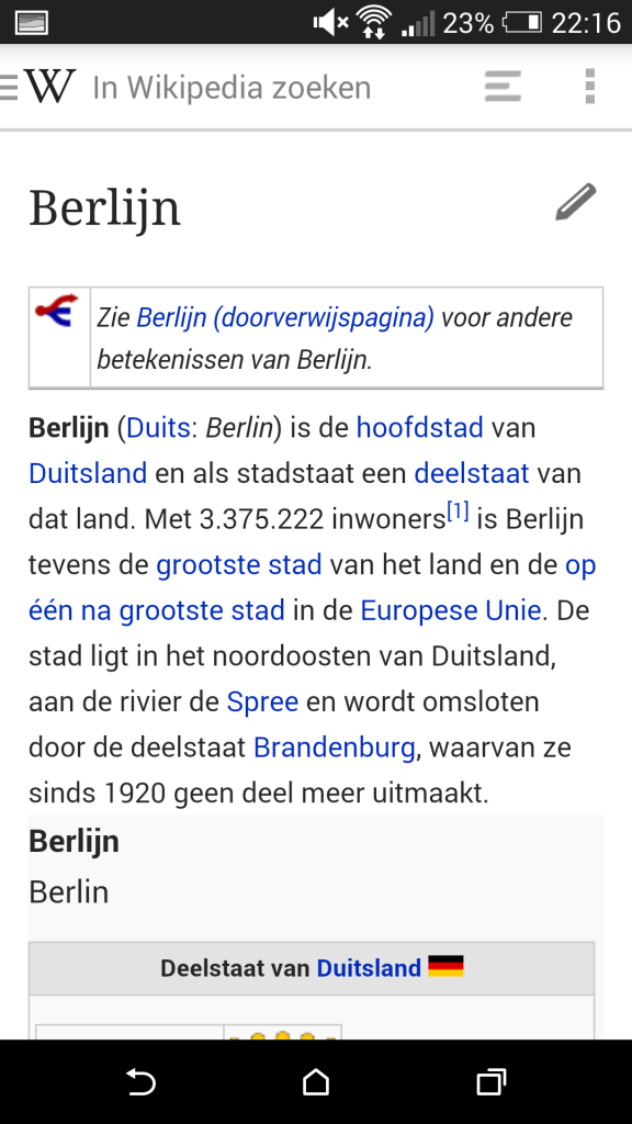 Wikipedia Beta Android