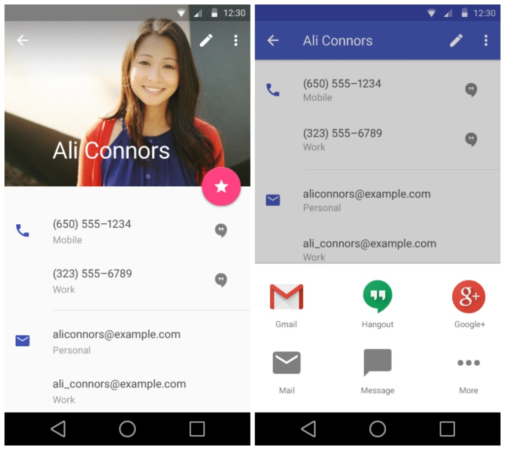 Android L contacten