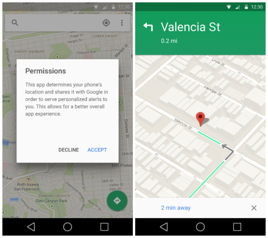 Android L Google Maps