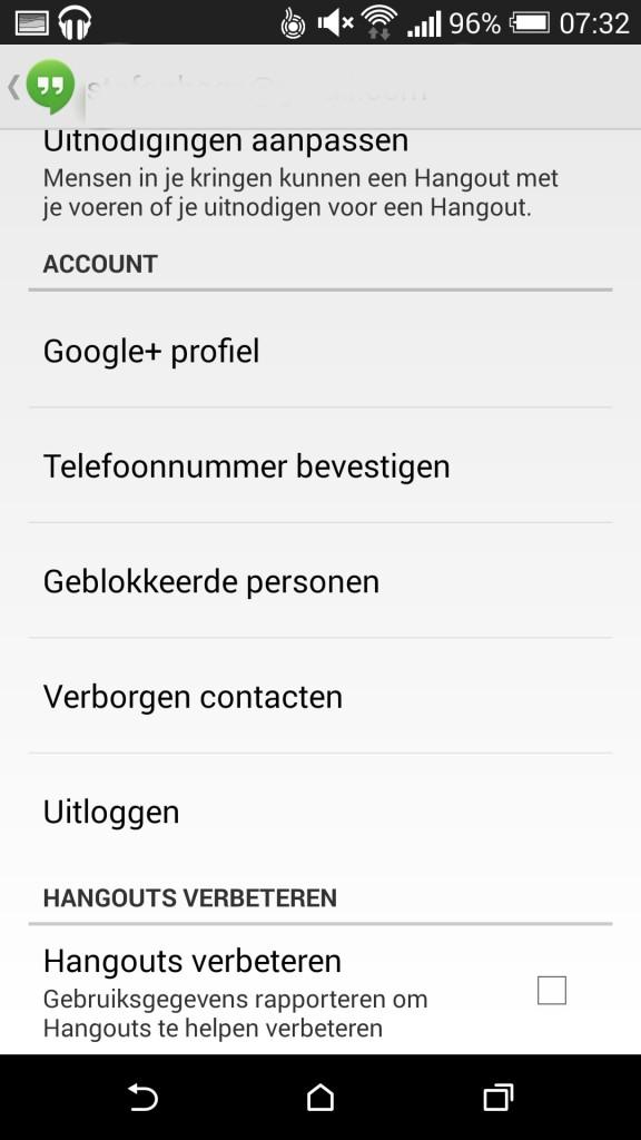 Google Hangouts update 2.1.223