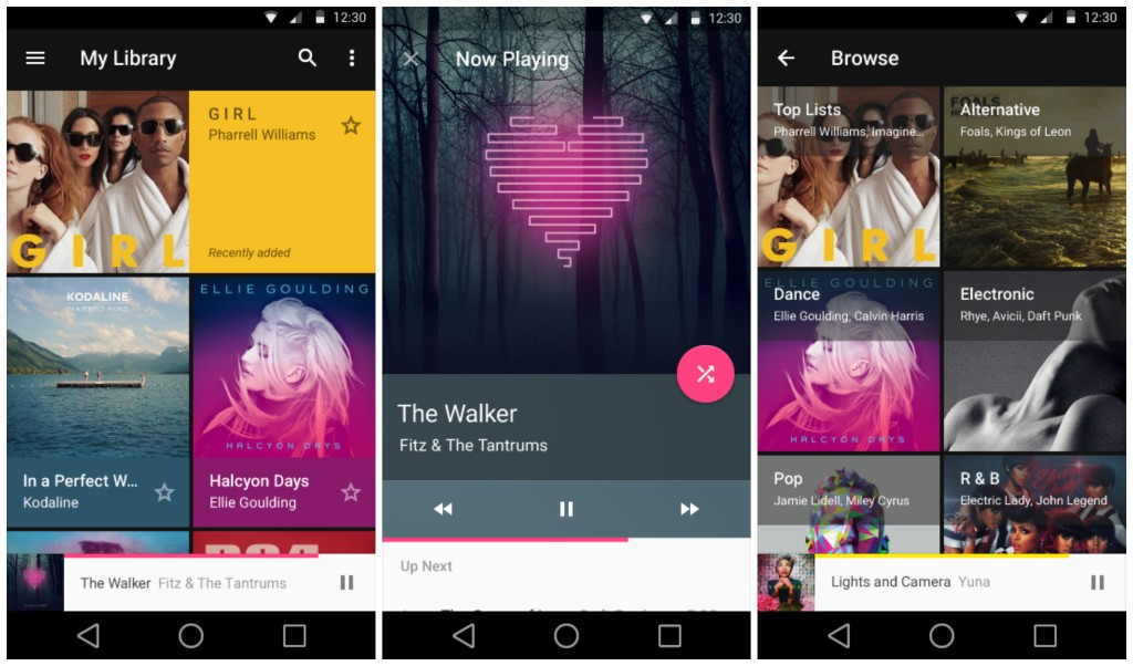 Android L Play Music