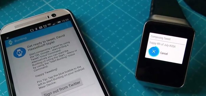 Bunting: Twitter client voor Android Wear