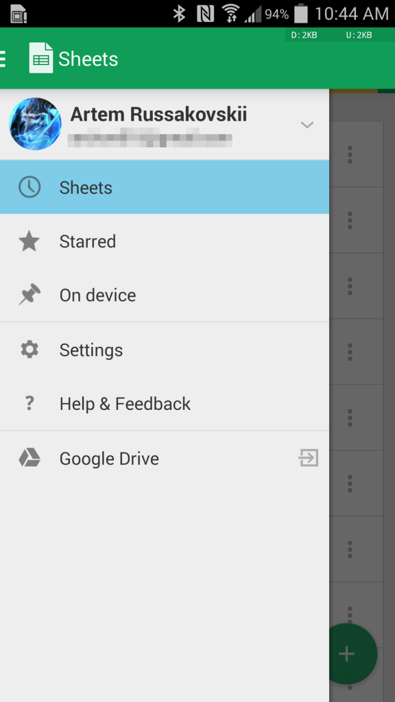 Update Google Sheets