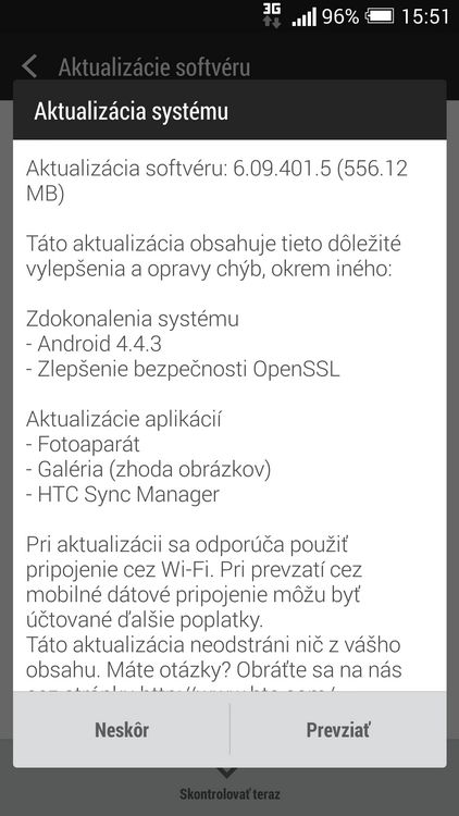 Android 4.4.3 One m7
