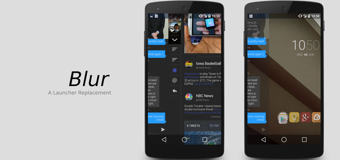 Blur: launcher voortgebouwd op Google Now