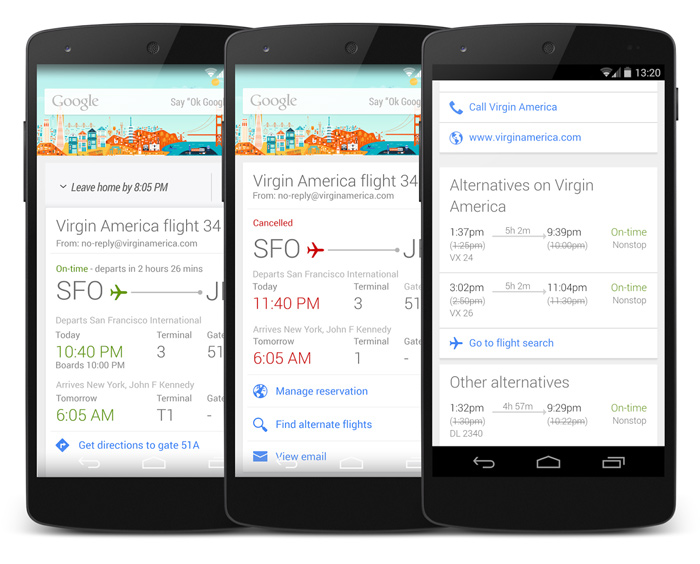 Google Now flight