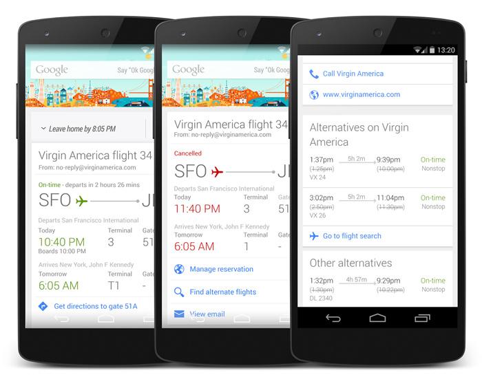 Google Now flight