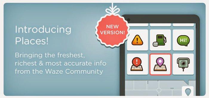 Waze 3.9 update uitgebracht met functie 'Waze Places'