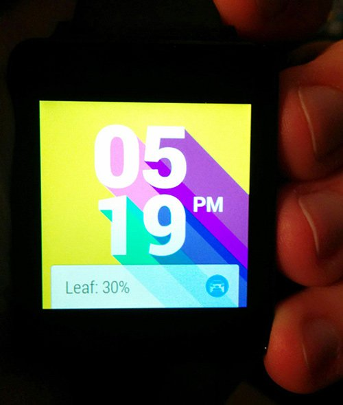 Leaf Status Android Wear