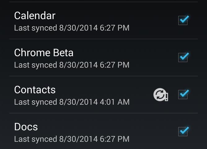 sync contacten google
