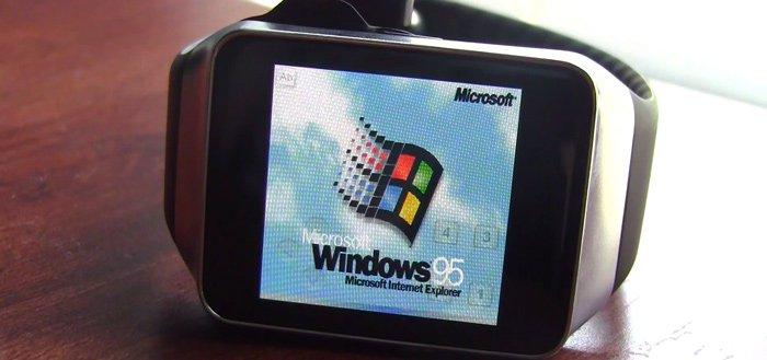 Windows 95 gespot op Android Wear-smartwatch
