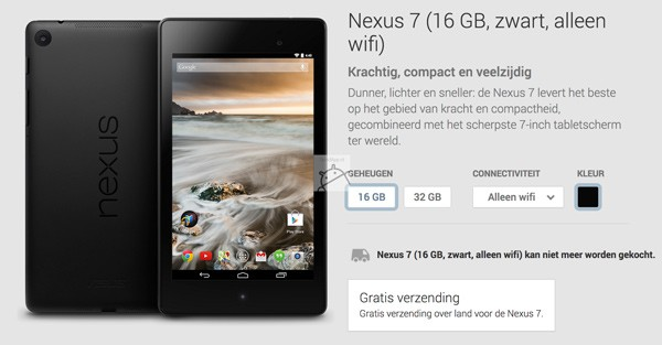 Nexus 7 play store