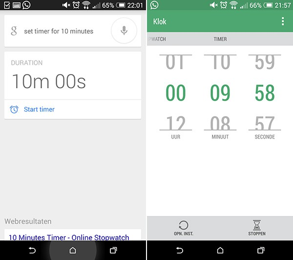 Timer Google Now