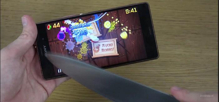 Fruit Ninja: maar dan met een echt mes (video)