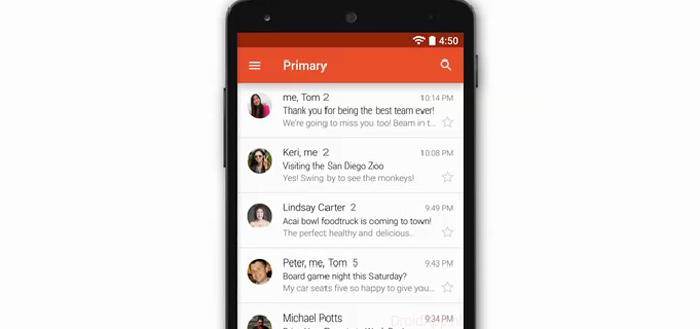 Gmail 5.0 uitgebracht met Exchange en Material Design (APK)