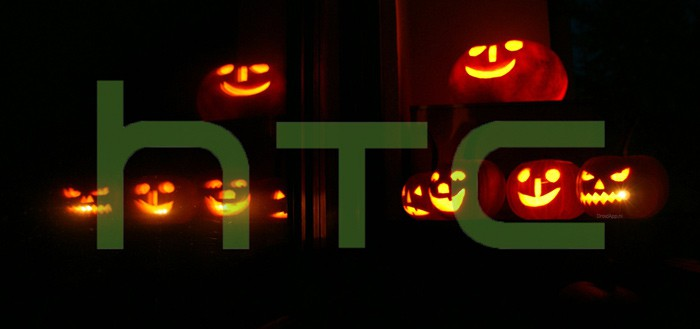 HTC Dot View cover toont Halloween gimmick