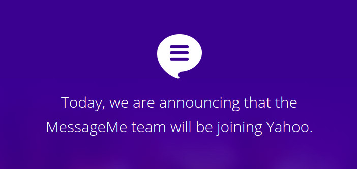 Berichtendienst MessageMe overgenomen door Yahoo