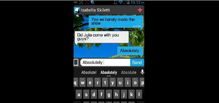 Beam Messenger laat realtime zien wat de ander typt