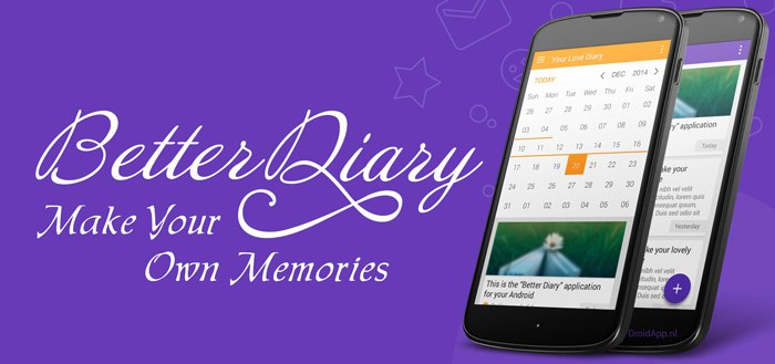 Better Diary: een schitterend dagboek in Material Design