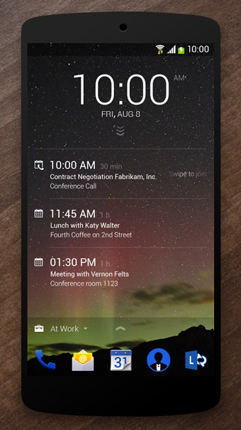 microsoft next lock screen