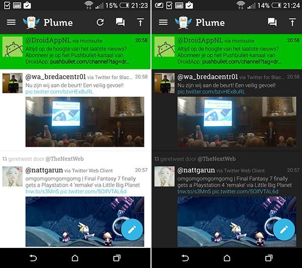 Plume Twitter Material Design