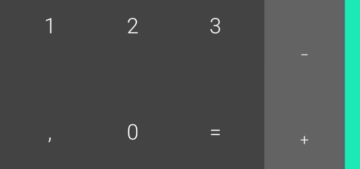 Google Calculator 7.4 geeft rekenmachine blauwe kleur en verbeterde geschiedenis