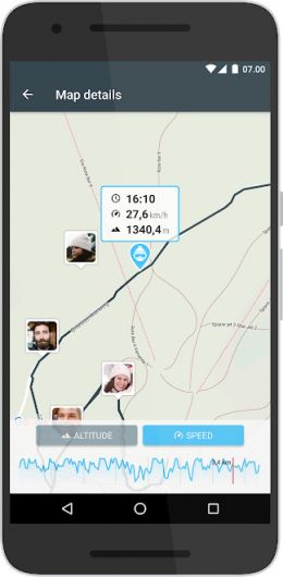 Sportler Ski Tracker