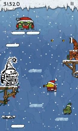 doodle jump christmas