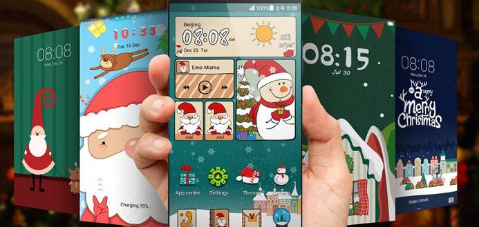 Huawei rolt kerst-thema's uit voor EMUI 3.0