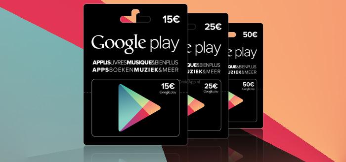 Play Gift Cards in meer landen verkrijgbaar, waaronder in België